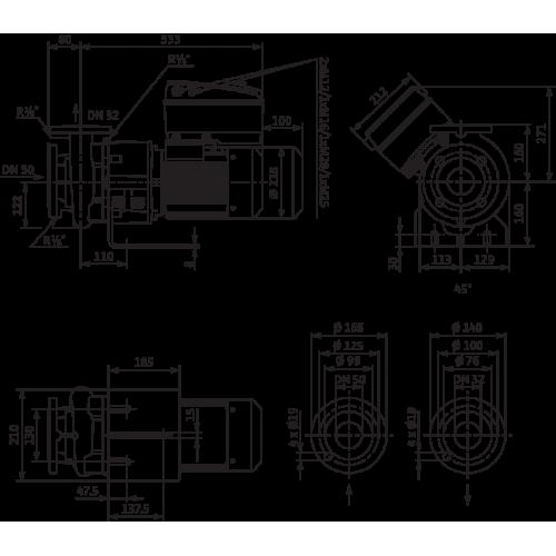 Блочный насос Wilo CronoBloc-BL-E 32/160-4/2-R1