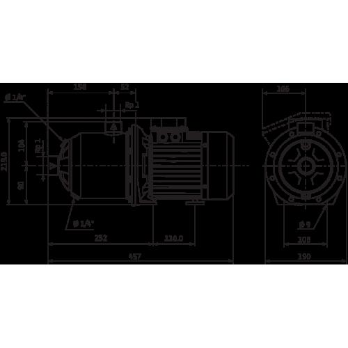 Центробежный насос  Wilo MHI 205-1/E/3-400-50-2/IE3