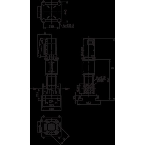 Вертикальный многоступенчатый насос Wilo Helix EXCEL 5202/1-1/16/E/KS