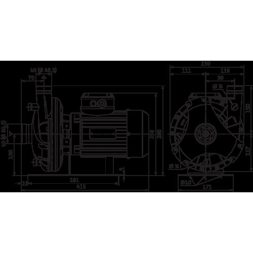Блочный насос Wilo BAC 40/129-1,85/2-DM/R-2