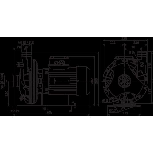 Блочный насос Wilo CronoBloc-BL 150/390-75/6