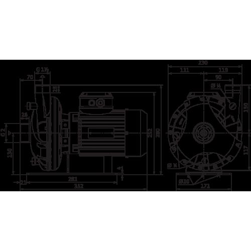Блочный насос Wilo BAC 40-125-0.75/2-DM/S-2