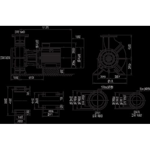 Блочный насос Wilo CronoBloc-BL 150/315-55/4