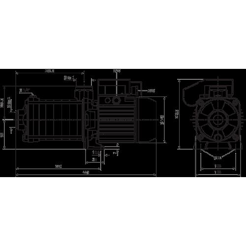 Центробежный насос Wilo MHIL 305-E-3-400-50-2/IE3