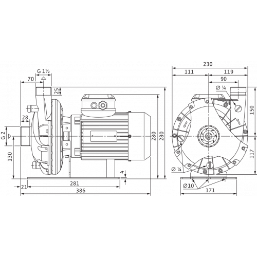 Блочный насос Wilo BAC 40-126-1.5/2-DM/S-2