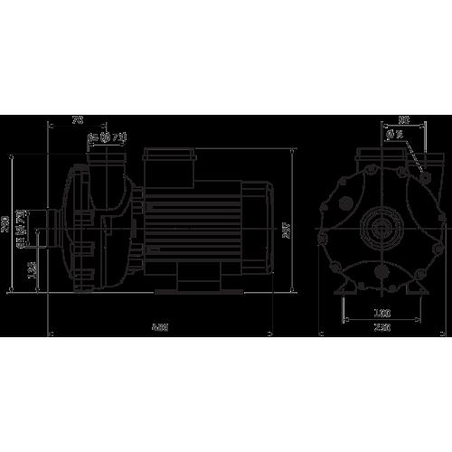 Блочный насос Wilo BAC 70-135-3,0/2-DM/R-2