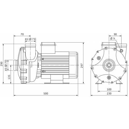 Блочный насос Wilo BAC 70-135-4,0/2-DM/R-2