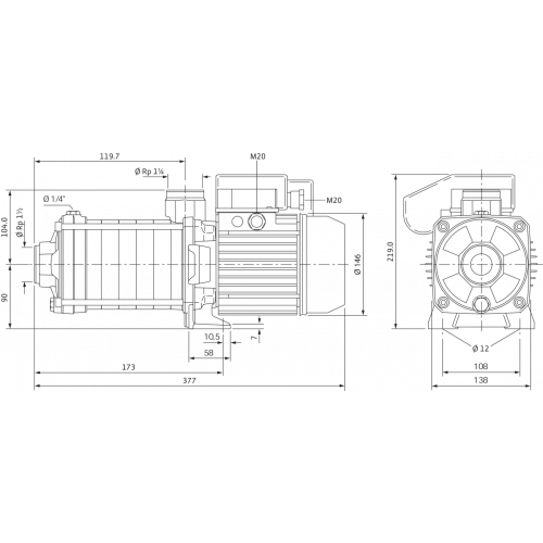 Центробежный насос Wilo MHIL 902-E-3-400-50-2/IE3