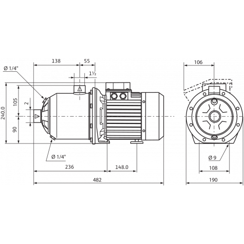 Центробежный насос Wilo MHI 1602-1/E/3-400-50-2/IE3