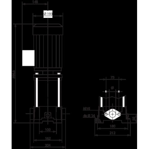 Вертикальный многоступенчатый насос  Wilo MVIL 308-16/E/3-400-50-2/IE3