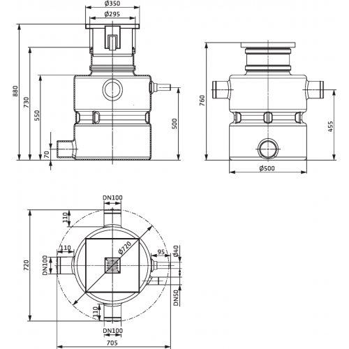 Напорная установка отвода сточной воды Wilo DrainLift Box 32/11 D