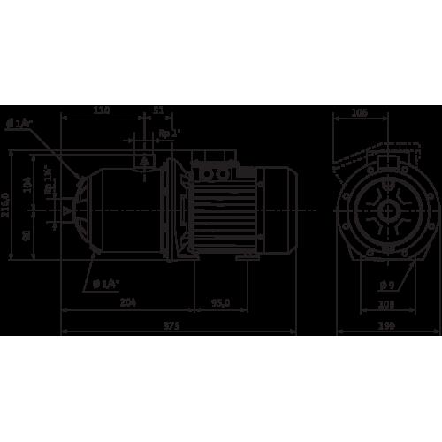 Центробежный насос  Wilo MHI 402-1/E/1-230-50-2