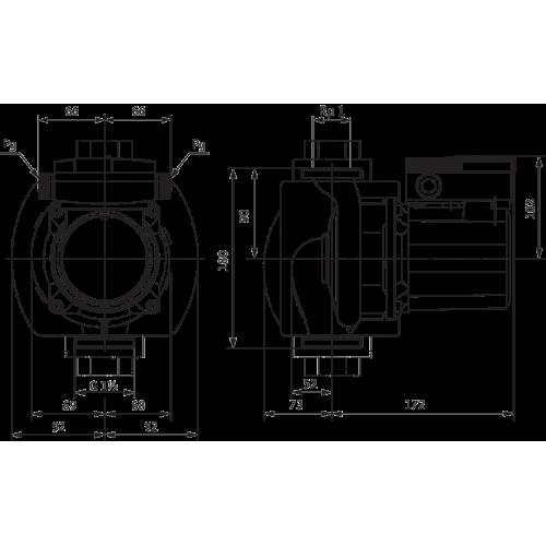 Циркуляционный насос Wilo TOP-Z 25/10 (1~230 V, PN 10, RG)