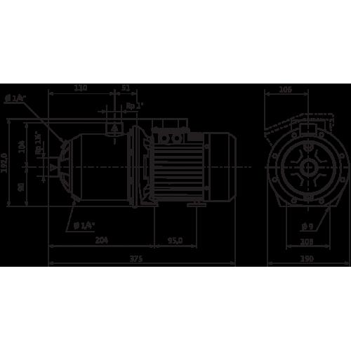 Центробежный насос  Wilo MHI 403-1/E/3-400-50-2