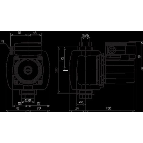Циркуляционный насос Wilo TOP-Z 20/4 (1~230 V, PN 10, Inox)