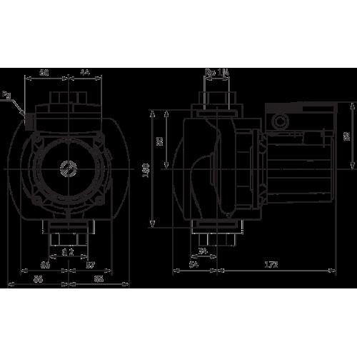 Циркуляционный насос Wilo TOP-Z 30/7 (1~230 V, PN 10, RG)
