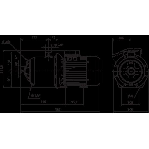 Центробежный насос Wilo Economy MHI 802 (1~230 В, EPDM)