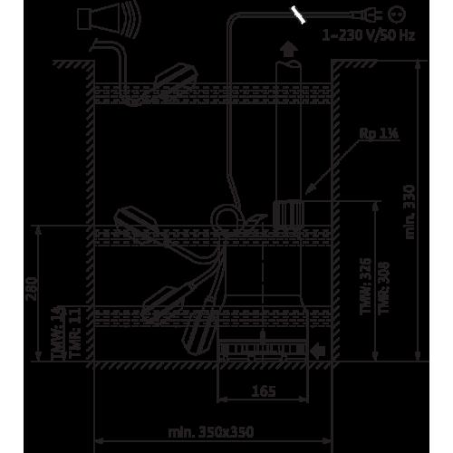Погружной насос для сточных вод Wilo Drain TMR 32/11