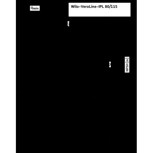 Циркуляционный насос с сухим ротором в исполнении Inline с фланцевым соединением Wilo VeroLine-IPL 80/115-2,2/2