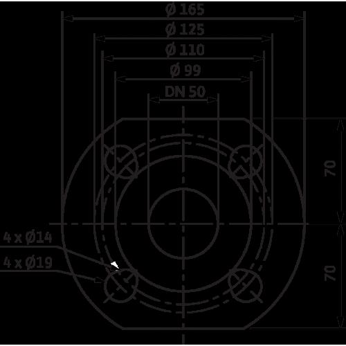Циркуляционный насос Wilo Yonos MAXO 50/0,5-12