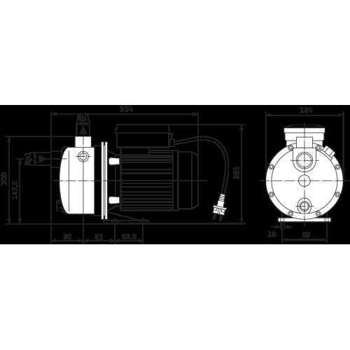 Поверхностный насос Wilo Jet WJ 203 X (3~230/400 В)