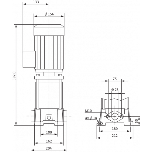 Вертикальный многоступенчатый насос Wilo Multivert MVIL 112 (1~230 В)