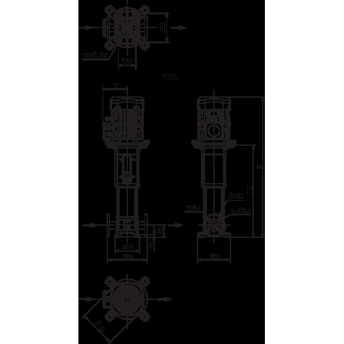 Вертикальный многоступенчатый насос Wilo Helix V 1003-2/25/V