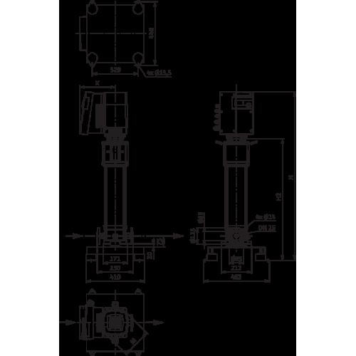 Вертикальный многоступенчатый насос Wilo Helix EXCEL 414-1/25/E/KS