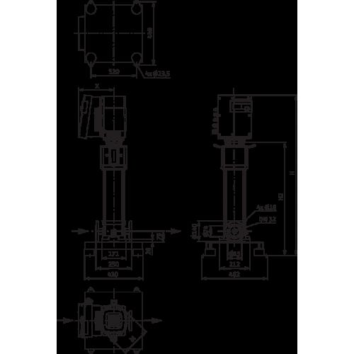 Вертикальный многоступенчатый насос Wilo Helix EXCEL 609-2/25/V/KS