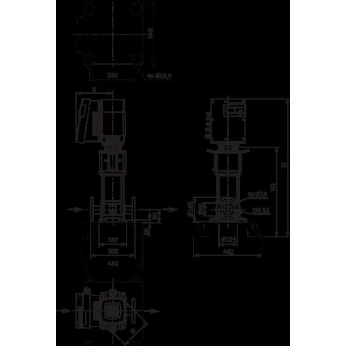 Вертикальный многоступенчатый насос Wilo Helix EXCEL 1602-2/25/V/KS