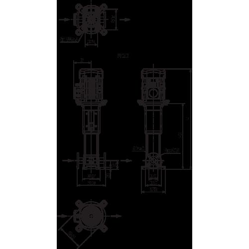 Вертикальный многоступенчатый насос Wilo Helix V 1610-2/25/V