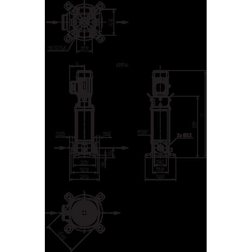 Вертикальный многоступенчатый насос Wilo Helix V 1009-1/16/E/S