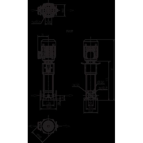 Вертикальный многоступенчатый насос Wilo Helix V 611-2/25/V/KS