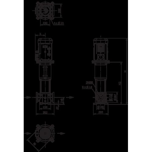 Вертикальный многоступенчатый насос Wilo Helix V 5205-4/16/E/KS/