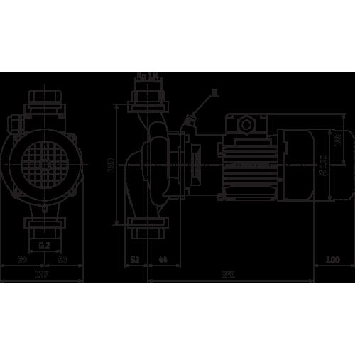 Циркуляционный насос с сухим ротором в исполнении Inline с фланцевым соединением Wilo VeroLine-IPL 30/90-0,25/2