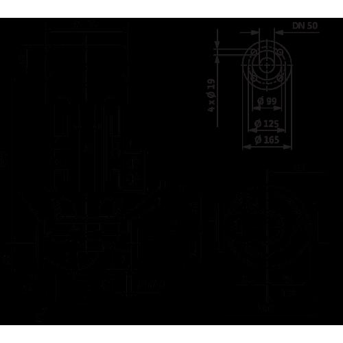Циркуляционный насос с сухим ротором в исполнении Inline с фланцевым соединением Wilo VeroLine-IPL 50/160-0,55/4