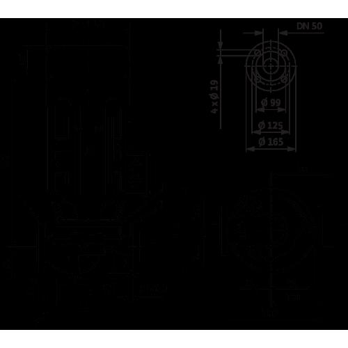 Циркуляционный насос с сухим ротором в исполнении Inline с фланцевым соединением Wilo VeroLine-IPL 50/120-0,25/4