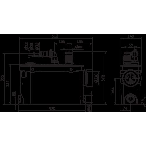Напорная установка отвода сточной воды Wilo HiSewlift 3-l35