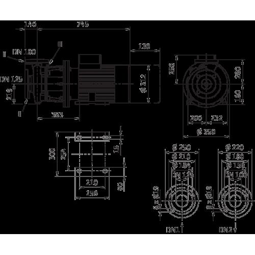 Блочный насос Wilo CronoBloc-BL 100/250-11/4