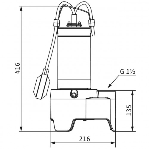 Дренажный насос Wilo Rexa MINI3-V04.09/M05-523/P-5M