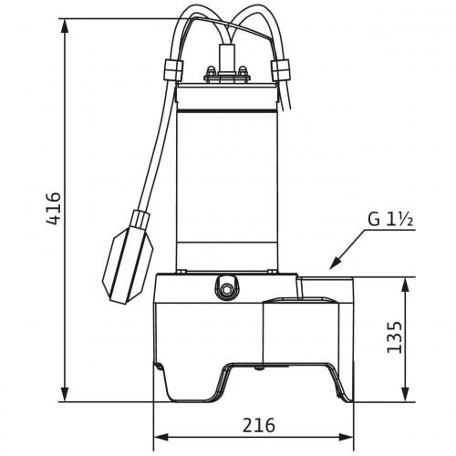 Дренажный насос Wilo Rexa MINI3-V04.11/M06-523/A-10M
