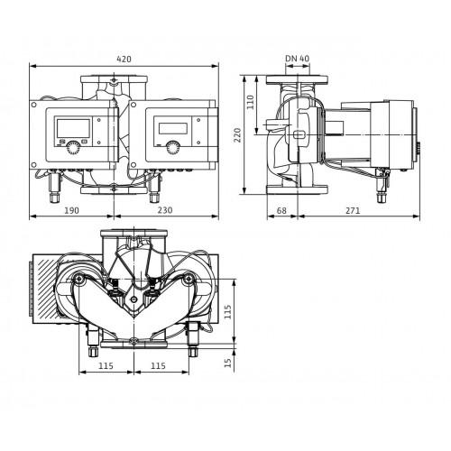 Циркуляционный насос  Wilo Stratos MAXO-D 40/0,5-8 PN16