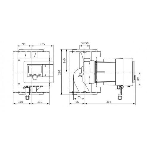 Циркуляционный насос  Wilo Stratos MAXO-Z 50/0,5-9 PN6/10