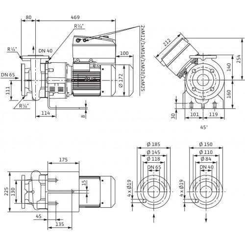 Блочный насос  Wilo BL-E40/120-2,2/2