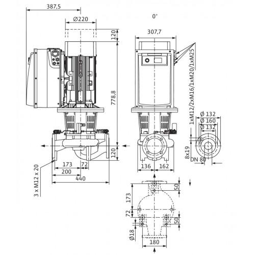 Циркуляционный насос Wilo Stratos GIGA 80/3-40/15-R1
