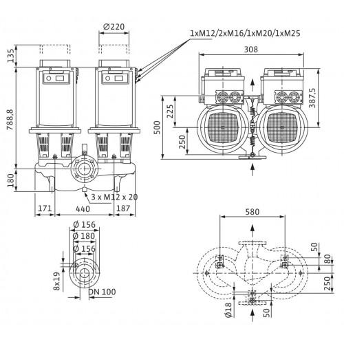 Циркуляционный насос Wilo Stratos GIGA-D 100/3-33/22