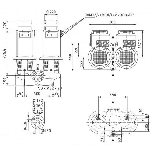 Циркуляционный насос Wilo Stratos GIGA-D 80/3-40/15-R1