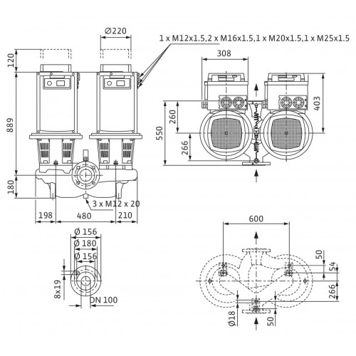 Циркуляционный насос Wilo Stratos GIGA-D 100/2-24/11-R1