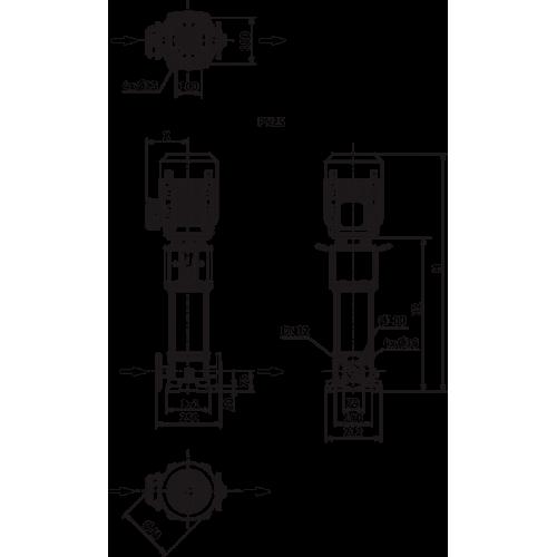 Вертикальный многоступенчатый насос Wilo HELIX V605-1/25/E/S/1-230-50