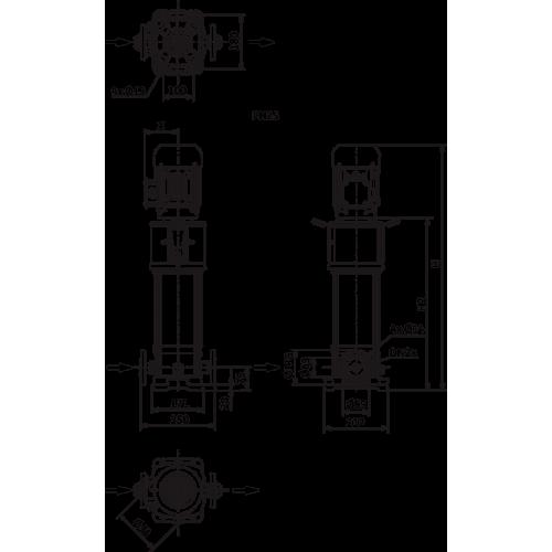 Вертикальный многоступенчатый насос Wilo HELIX V216-1/25/E/S/1-230-50